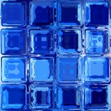 Blue glass squares mosaic seamless pattern texture Stock Image