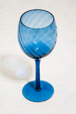 Blue glass stemware Royalty Free Stock Image
