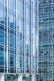 Blue glass surface of modern office buildings Royalty Free Stock Photography