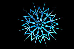 Blue glass textured snowflake Royalty Free Stock Photography