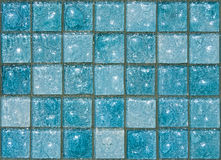 Blue Glass Tiles Stock Images