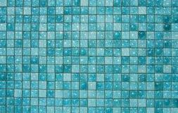 Blue glass tiles. A nice mosaic of blue glass tiles Stock Photos