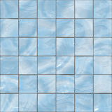 Blue glass tiles seamless texture. Blue shiny glass tiles seamless texture Royalty Free Stock Photos