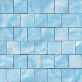 Blue glass tiles seamless texture. Blue shiny glass tiles seamless texture Royalty Free Stock Photography