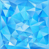 Blue glass triangles abstract vector background Stock Photography