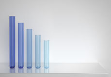 Blue glass tubes Royalty Free Stock Photos