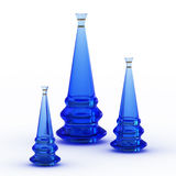Blue glass vases Royalty Free Stock Image