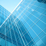 Blue glass wall royalty free stock images