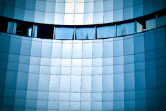 Blue glass wall Royalty Free Stock Photos