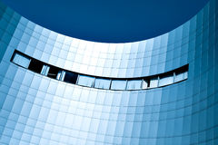 Blue glass wall Royalty Free Stock Photography