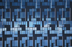 Blue glass wall Stock Photography