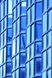 Blue glass wall of building Stock Image