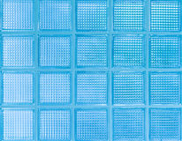 Blue glass wall Royalty Free Stock Image