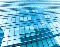 Blue glass wall of luxury hotel Royalty Free Stock Photo