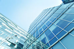 Blue glass wall of luxury hotel Stock Image