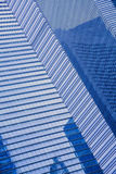 Blue Glass wall of modern skyscraper Royalty Free Stock Photo