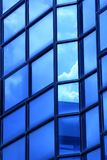 Blue Glass Wall Of Building Royalty Free Stock Images