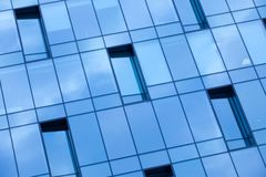 Blue glass wall office building Royalty Free Stock Image