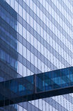 Blue glass wall of skyscraper. Detail Royalty Free Stock Images