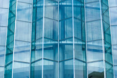 Blue glass wall of skyscraper Stock Image