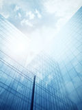 Blue glass wall of skyscraper Royalty Free Stock Photo