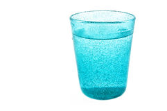 Blue glass with water Royalty Free Stock Photo