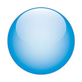 Blue  glass web button Stock Photo