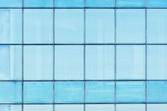 Blue Glass Window closeup detail Royalty Free Stock Images