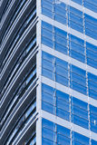 Blue  glass  Windows Royalty Free Stock Photo