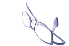 Blue glasses. Isolated on the white background Stock Photos