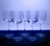 Blue glasses. Just some wine glasses Royalty Free Stock Images