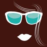 Blue glasses Stock Image