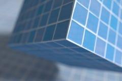 Blue glazed cube Stock Photos