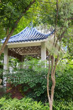 Blue glazed roof pavilion Royalty Free Stock Photography