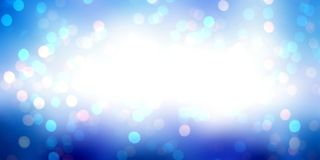 Blue gleaming bokeh empty background. Magic night glitter abstract illustration. Sparkle Christmas backdrop. New Year mystery Royalty Free Stock Images