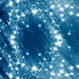 Blue glitter. Bright sparkles on a soft blue background vector illustration