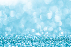 Blue glitter for abstract background Stock Image
