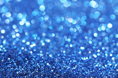 Blue glitter christmas abstract background Stock Photo