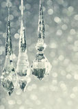 Blue glitter christmas background royalty free stock photography