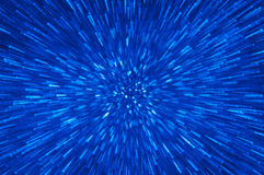 Blue glitter explosion lights abstract background Royalty Free Stock Photo
