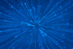 Blue glitter explosion lights abstract background Stock Photo