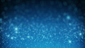 Blue glitter in light rays rendered with DOF. Blue glitter in light rays. Abstract holiday background. Computer generated rendering with shallow DOF Royalty Free Stock Photography