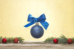 Blue Glitter Ornament Royalty Free Stock Image