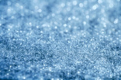 Blue glitter sparkles background with star light Stock Photo