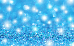 Blue Glitter Stars Background Royalty Free Stock Photo