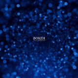 Blue glitter vector background. EPS10. Blue glitter vector background. Blurred defocused lights, bokeh. EPS10 Royalty Free Stock Photos
