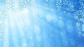 Blue glittering curtain with snowflakes stock video footage