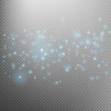 Blue glittering star dust trail. EPS 10 Stock Photos