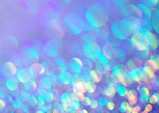 Blue Glittery Background Texture. Colorful pink and blue glitter bokeh, soft background texture Royalty Free Stock Image
