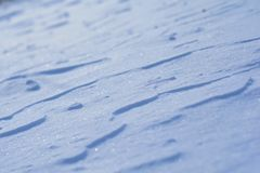 Blue snow layers royalty free stock photos
